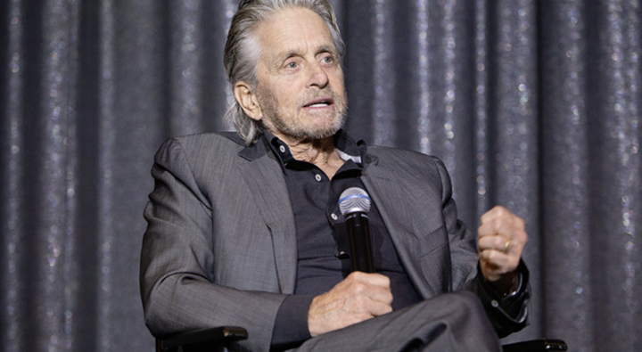 Actor Michael Douglas at a panel in March on nuclear risk.