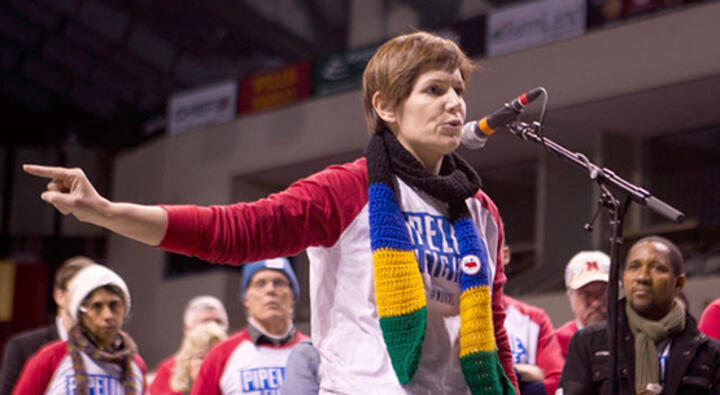Organizer and political activist Jane Kleeb is working against the Keystone XL oil pipeline in Nebraska. Photo: Kat Buchanan / Daily Nebraskan