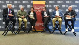 panelists at friday the 13th event at the writers guild of america east