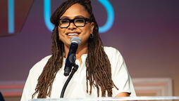 "Director Ava DuVernay accepts 2019 Sentinel Award in the category of criminal justice for her Netflix series ""When They See Us."" Photo by Michael Jones"
