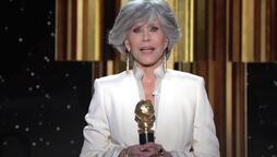 Jane Fonda at 2021 Golden Globes